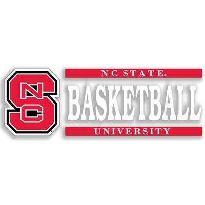 NC State Basketball Strip Decal 6