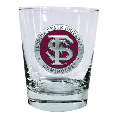 Florida State Heritage Pewter Old Fashioned Glass
