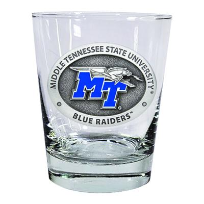 MTSU Heritage Pewter Old Fashioned Glass