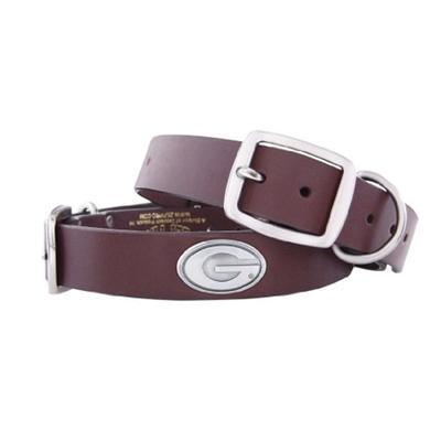 Georgia Concho Leather Dog Collar