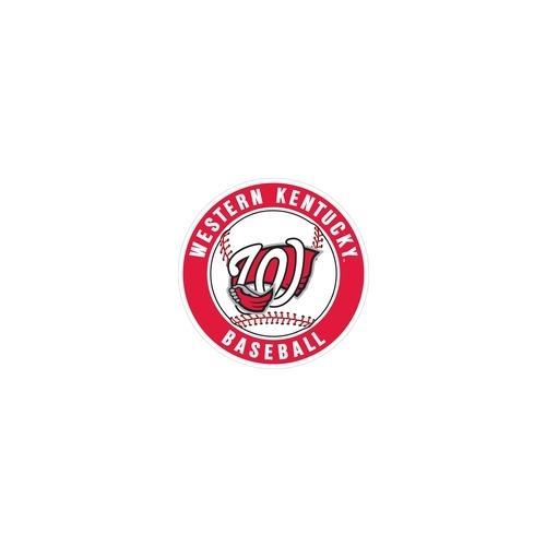 Western Kentucky Decal Circle Baseball Logo