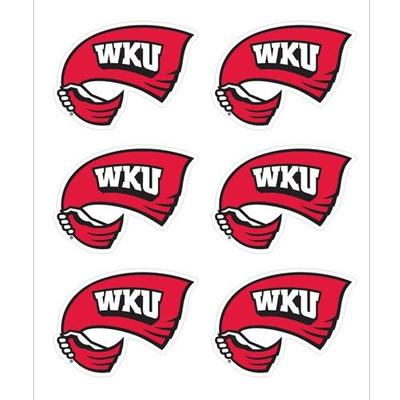 Western Kentucky Decals Red Towel Logo 6-Pack 1