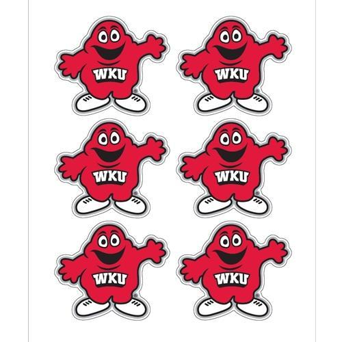 Western Kentucky Decals Big Red Logo 6-Pack 1