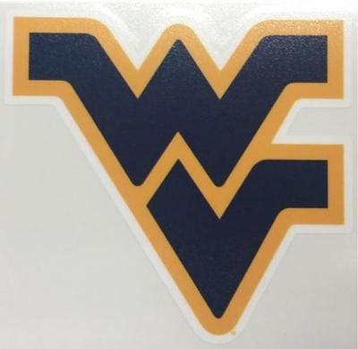 West Virginia Blue WV Logo Decal 3