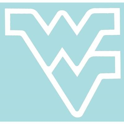 West Virginia White WV Logo Decal 3
