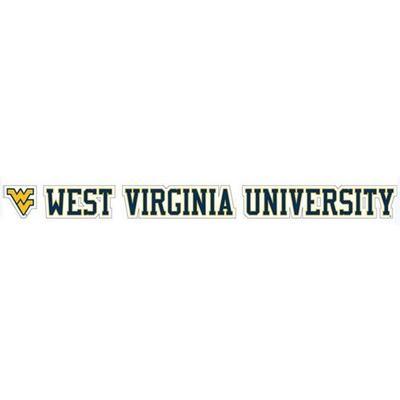 West Virginia University Strip Decal 20