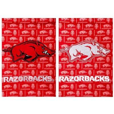 Arkansas Razorbacks Glitter Garden Flag 12.5