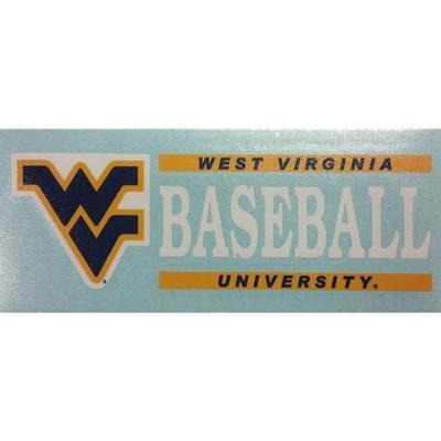 West Virginia Baseball Block Decal 6
