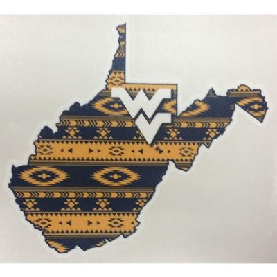 West Virginia State Aztec Fill Decal 6