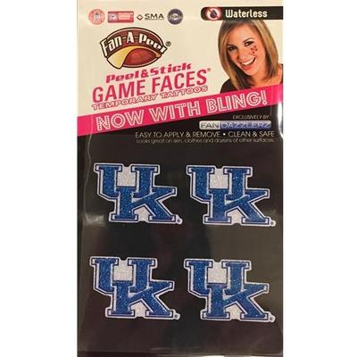 Kentucky Peel and Stick Game Faces 4 Pack