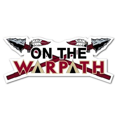 Florida State On The Warpath Dizzler Decal 2