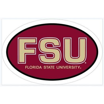 Florida State FSU Oval Magnet 6