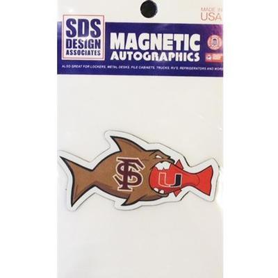 Florida State Magnet Miami Rival Fish 3