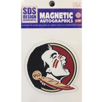 Florida State Magnet Seminole Head 3