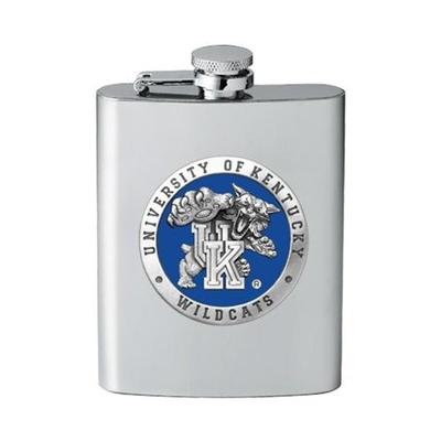 Kentucky Pewter Flask Blue Wildcat