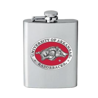 Arkansas Heritage Pewter 8 oz Flask