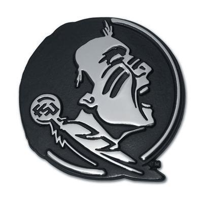 Florida State Chrome Seminole Auto Emblem