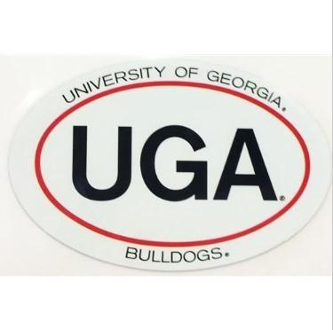 Georgia Magnet Oval UGA 6