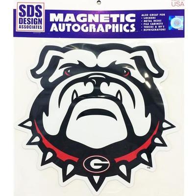 Georgia Magnet Bulldog Head 3