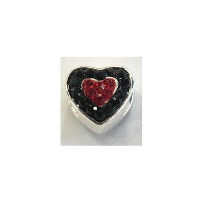 Arkansas Crystal Heart Bead