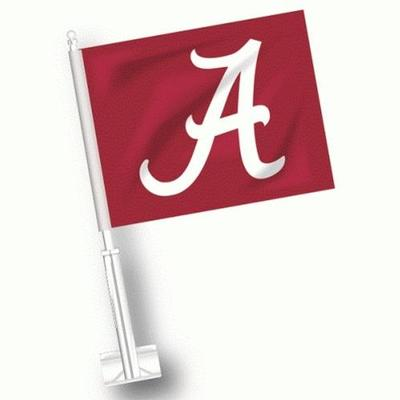 Alabama Script A Car Flag