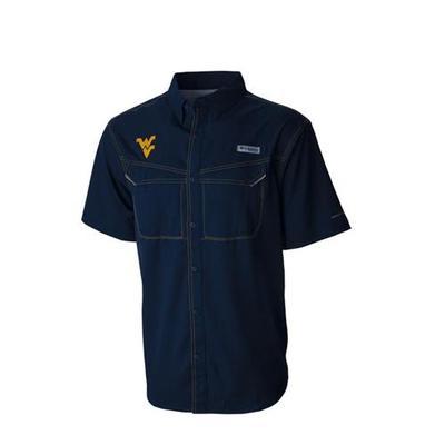 West Virginia Columbia PFG Low Drag Offshore Shirt