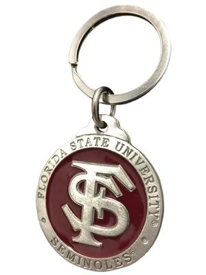 Florida State Heritage Pewter Key Chain
