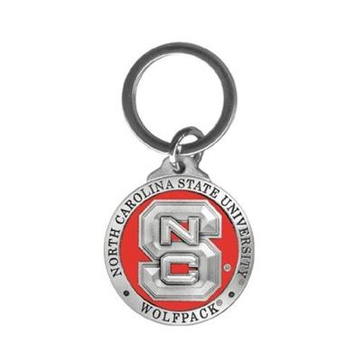 NC State Heritage Pewter Key Chain