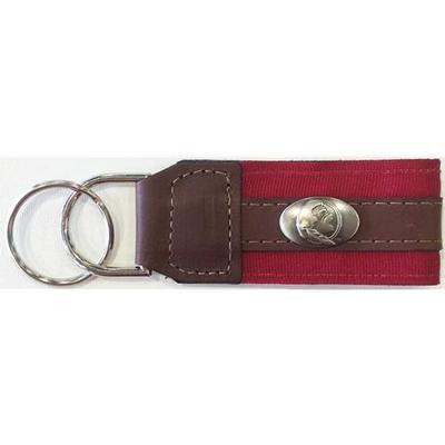 Florida State Leather Seminole Logo Key Chain