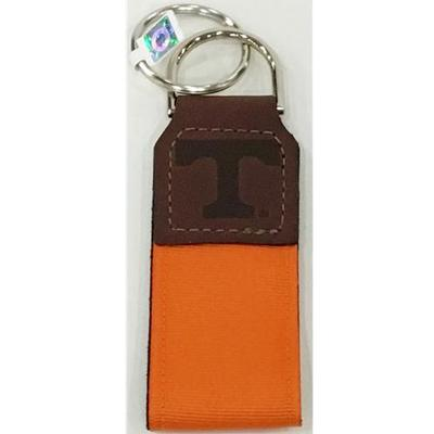 Tennessee Leather Ribbon Key Chain