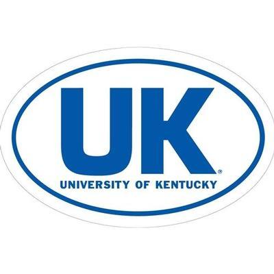 Kentucky UK Oval Auto Magnet 6