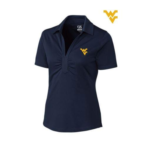 West Virginia Cutter And Buck Women's Glendale Polo