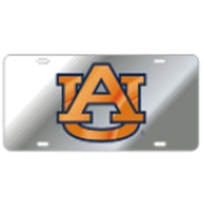 Auburn License Plate Silver