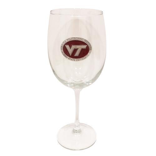 Virginia Tech Large Wine Glass