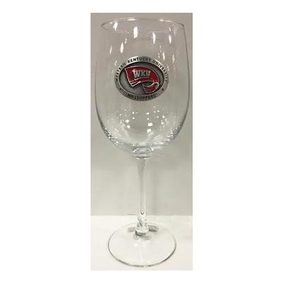 Western Kentucky Heritage Pewter Wine Glass