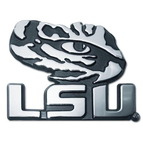 Louisiana State University Chrome Metal Car Emblem Elektroplate