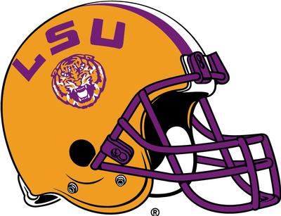 LSU Magnet Football Helmet 9