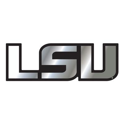 LSU Magnet Chrome LSU Logo 3