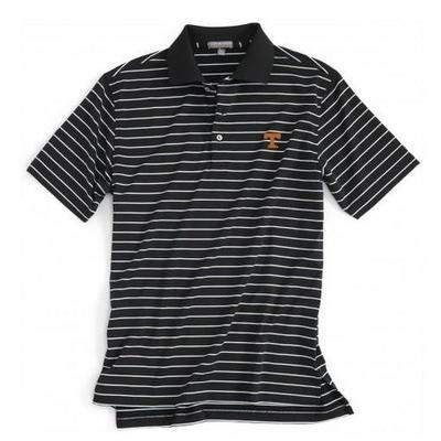 Tennessee Peter Millar Campus Stripe Stretch Polo