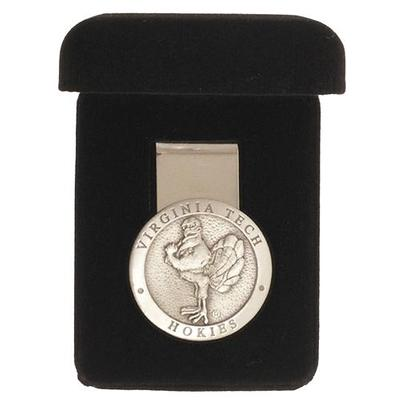 Virginia Tech Silver Hokiebird Money Clip