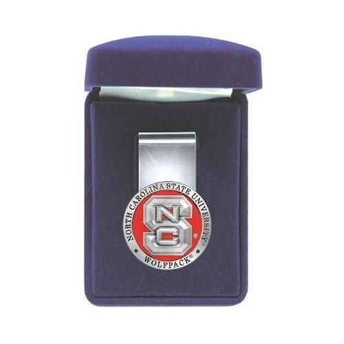 Nc State Heritage Pewter Money Clip