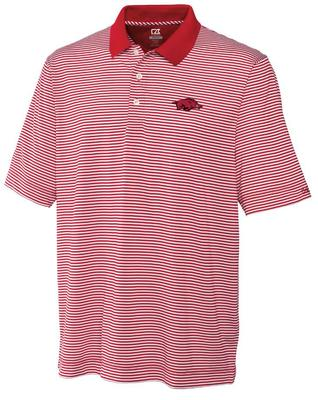 Arkansas Cutter and Buck Trevor Stripe Polo