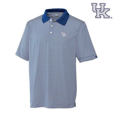 Kentucky Cutter and Buck DryTec Trevor Stripe Polo