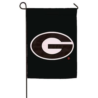 Georgia Logo Garden Flag Black