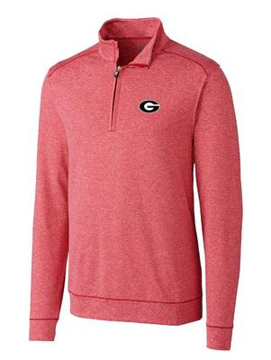 Georgia Cutter & Buck Shoreline 1/2 Zip Pullover