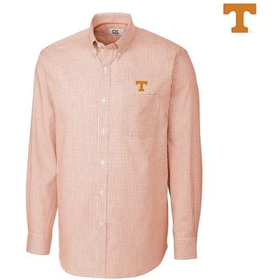 Tennessee Cutter and Buck Tattersall Woven Dress Shirt