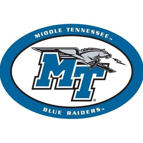 MTSU Magnet Oval MT/Horse Logo 6