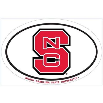 NC State NCS Oval Magnet 6