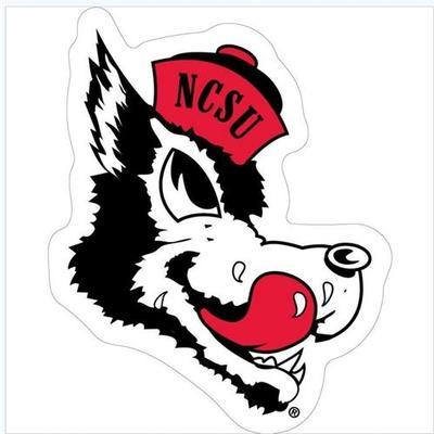 NC State Retro Wolfie Auto Magnet 3