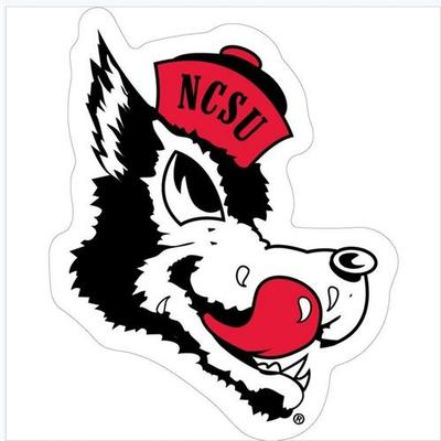 NC State Retro Wolfie Auto Magnet 8